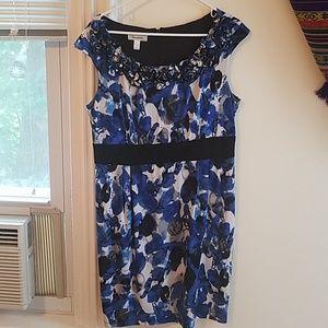 Blue and white dress barn dress